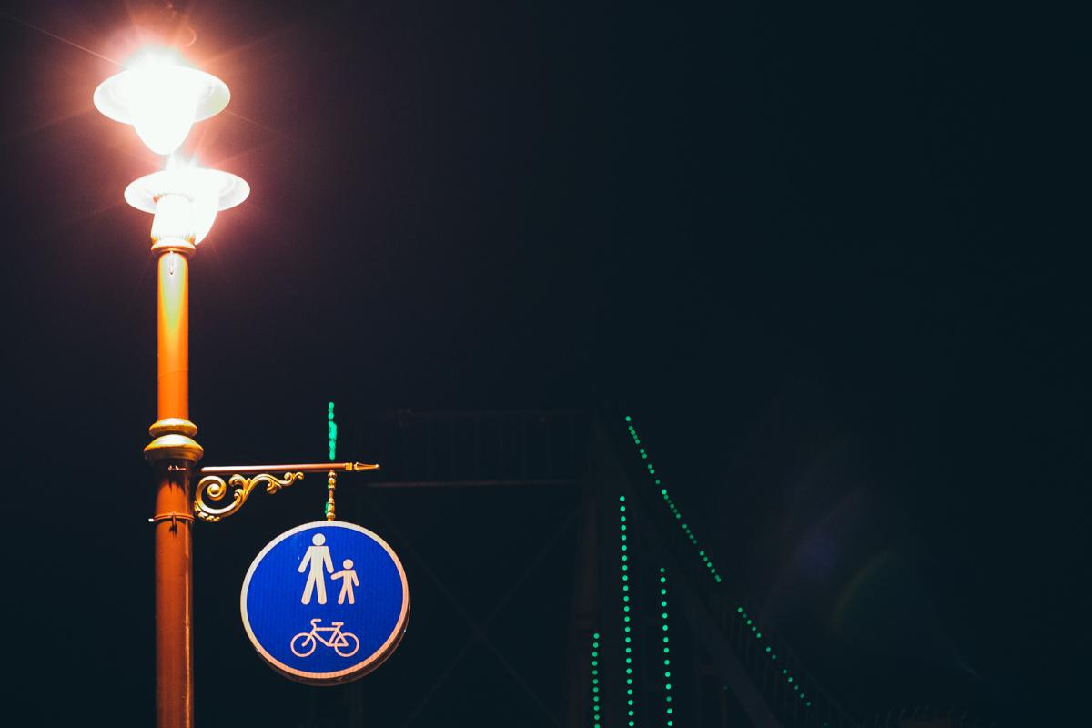 Романтичные фонари Паркового моста