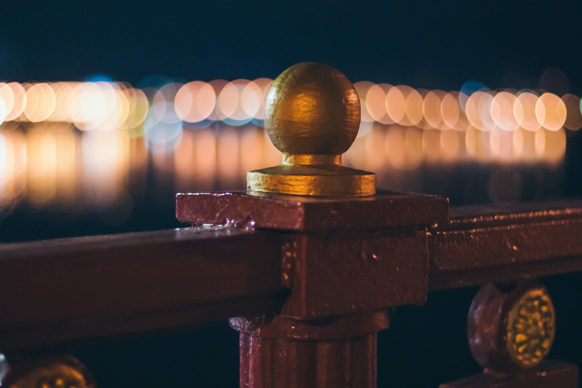 Новые перила Паркового моста