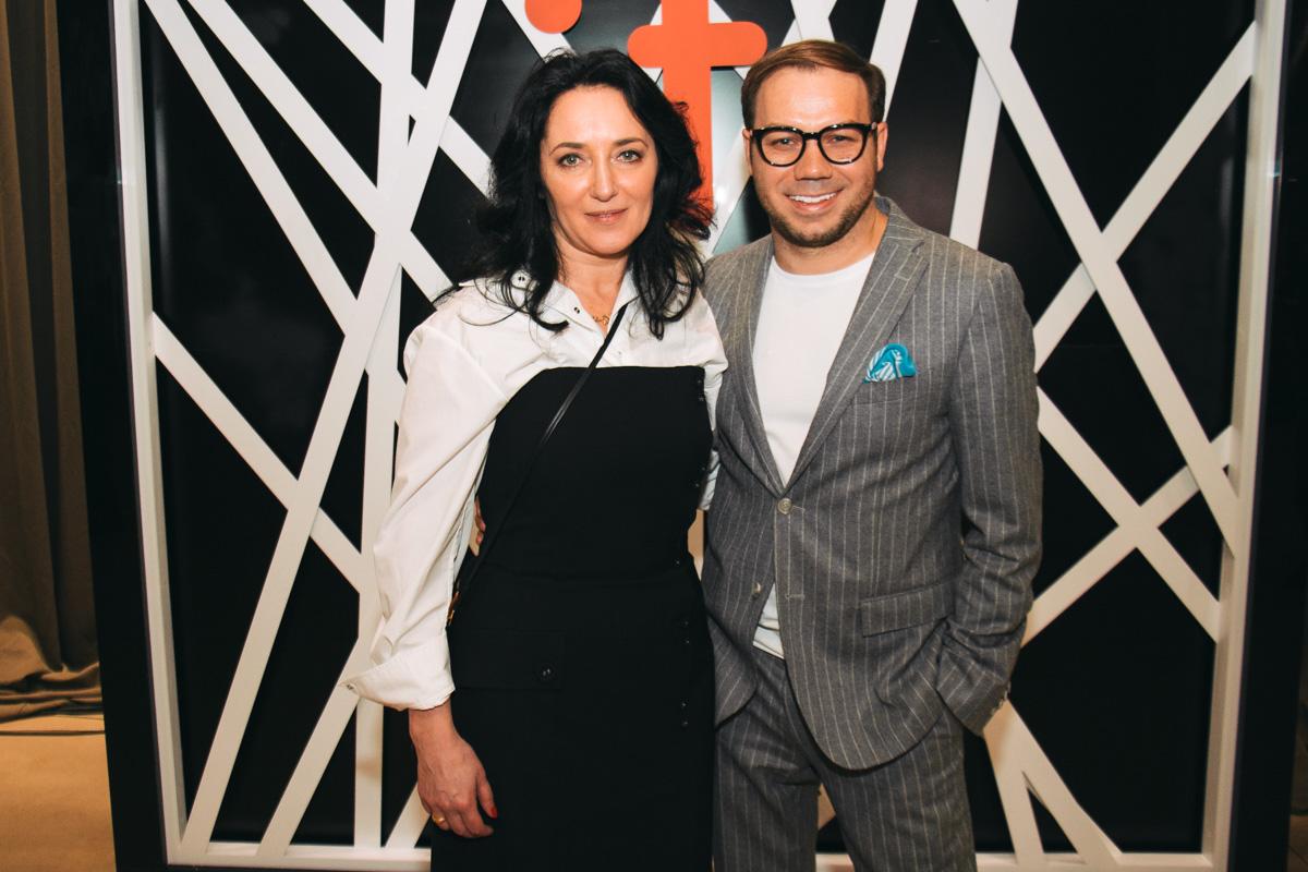 Андре Тан с основательницей детской недели моды Натальей Коваленко
