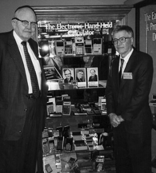 Джерри Мерримен (справа) в Американском музее компьютеров, 1997 год