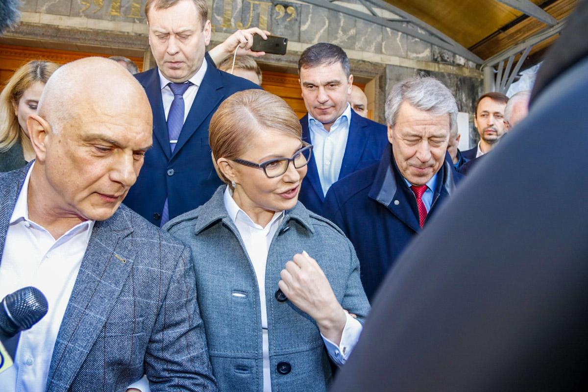 Юлия поблагодарила присутствующих и сказала что будет рада всех видеть после победы