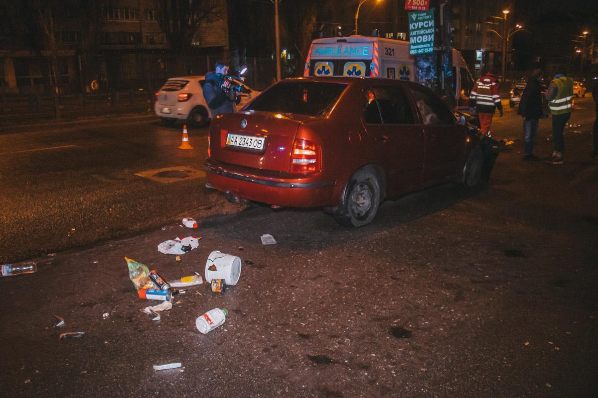 В воскресенье, 17 марта, в Киеве произошла серьезная авария