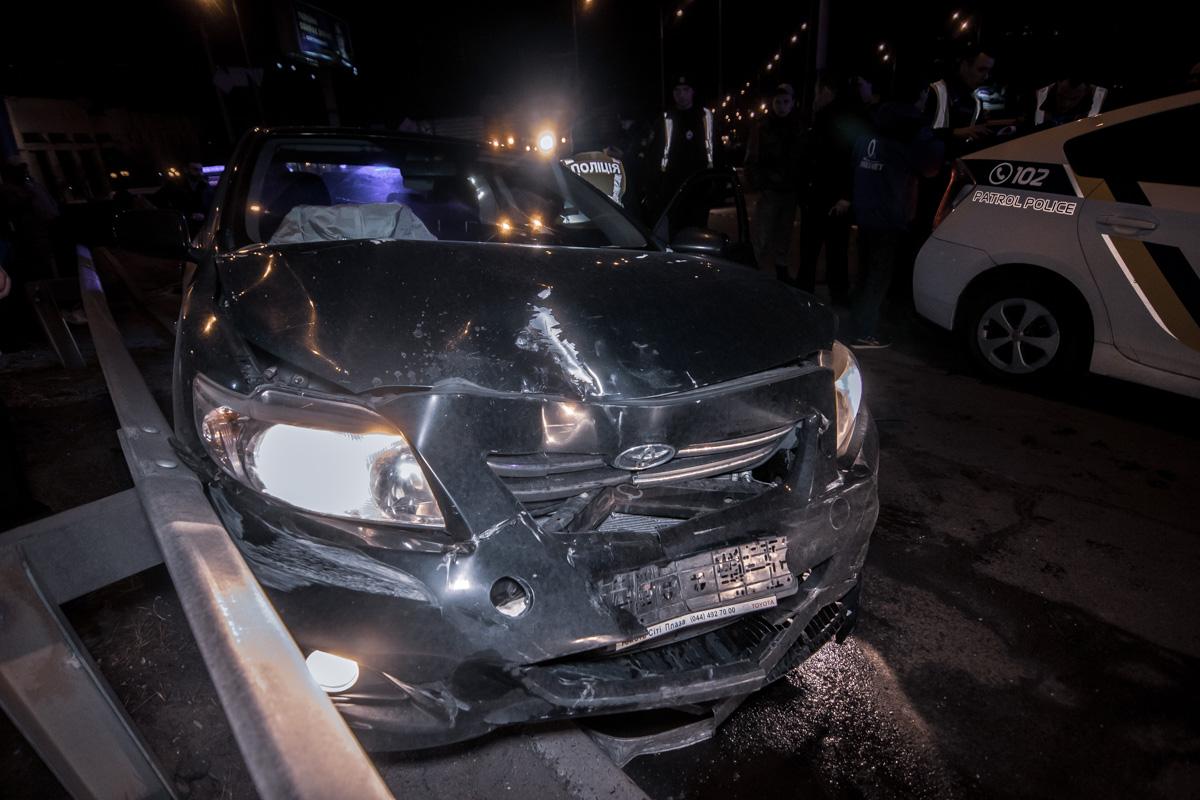 На Троещине водитель Toyota в состоянии алкогольного опьянения влетел в Mercedes