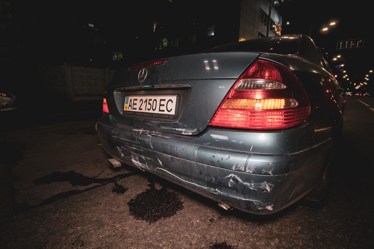 Mercedes отделался незначительными царапинами