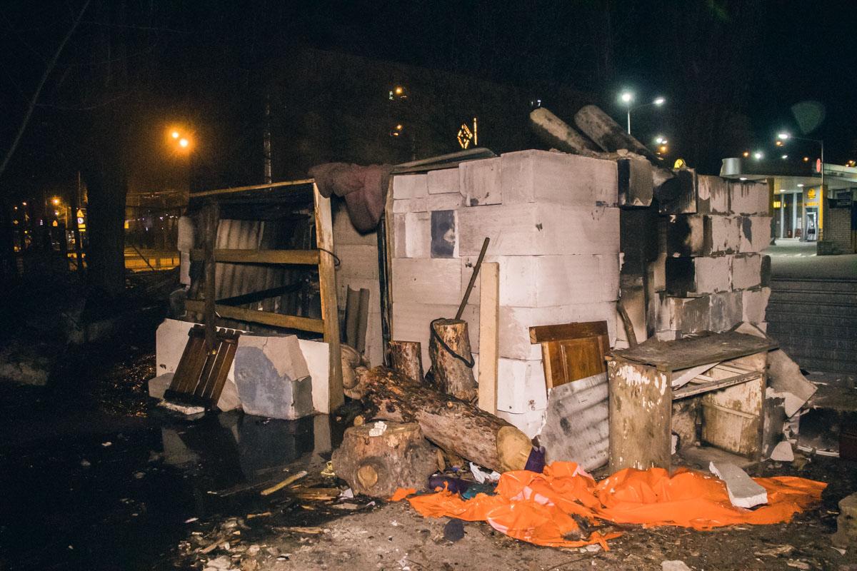 Пожар произошел возле заправки Glusco