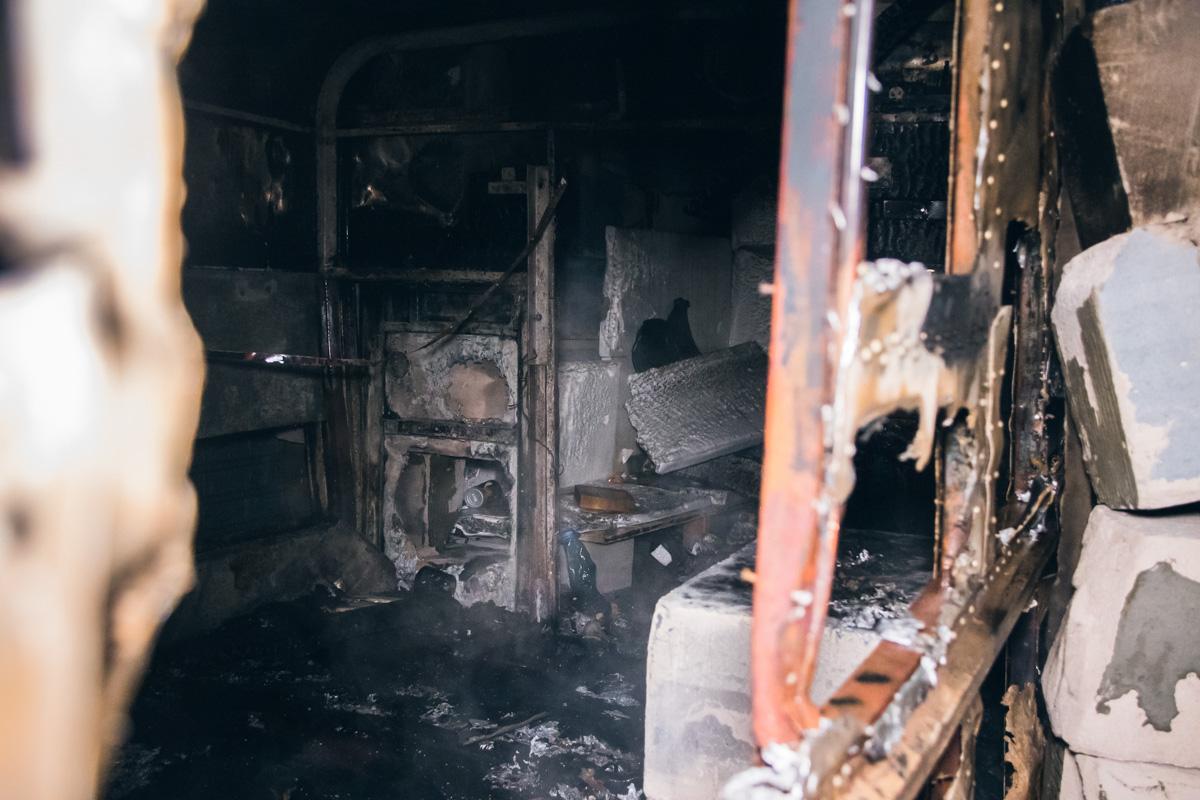 Загорелся вагончик на территории стройки в 03:40