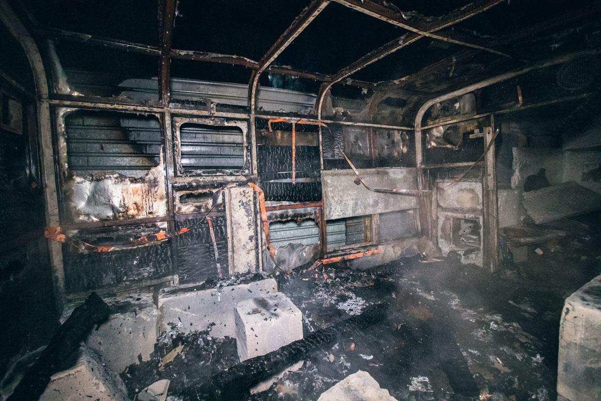 Во время происшествия вагончик был пустой, поэтому никто не пострадал