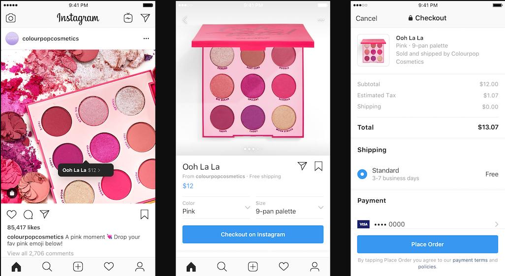 В Instagram появилась новая функция - теперь можно совершать покупки, не покидая приложение