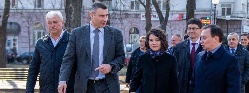In Kiev, near the Russian Embassy, Vitali Klitschko opened