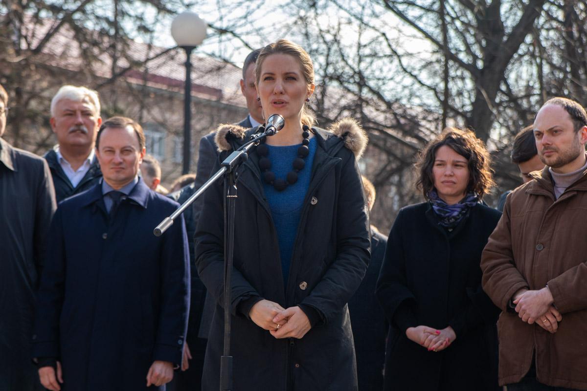 На мероприятие пришли много его сторонников. На фото - народный депутат Украины Светлана Залищук
