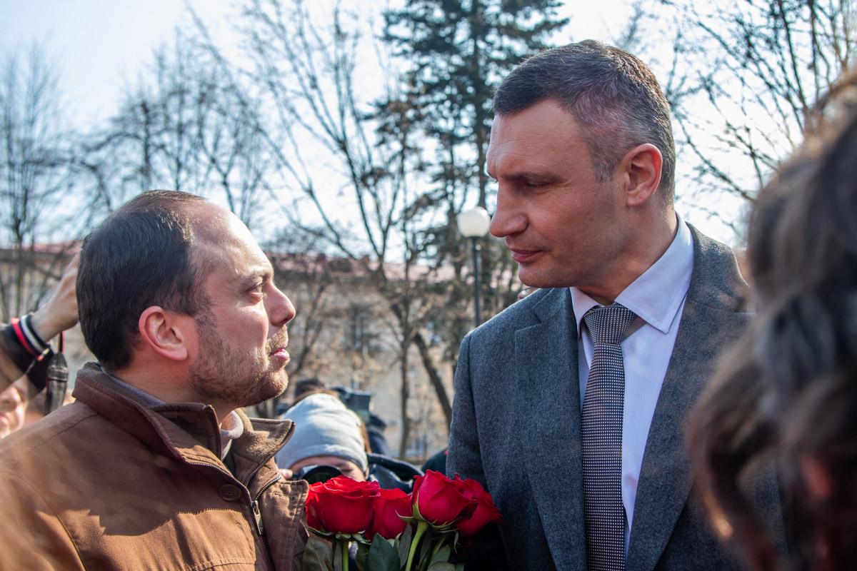 На мероприятии присутствовали Владимир Кара-Мурза-младший и Виталий Кличко