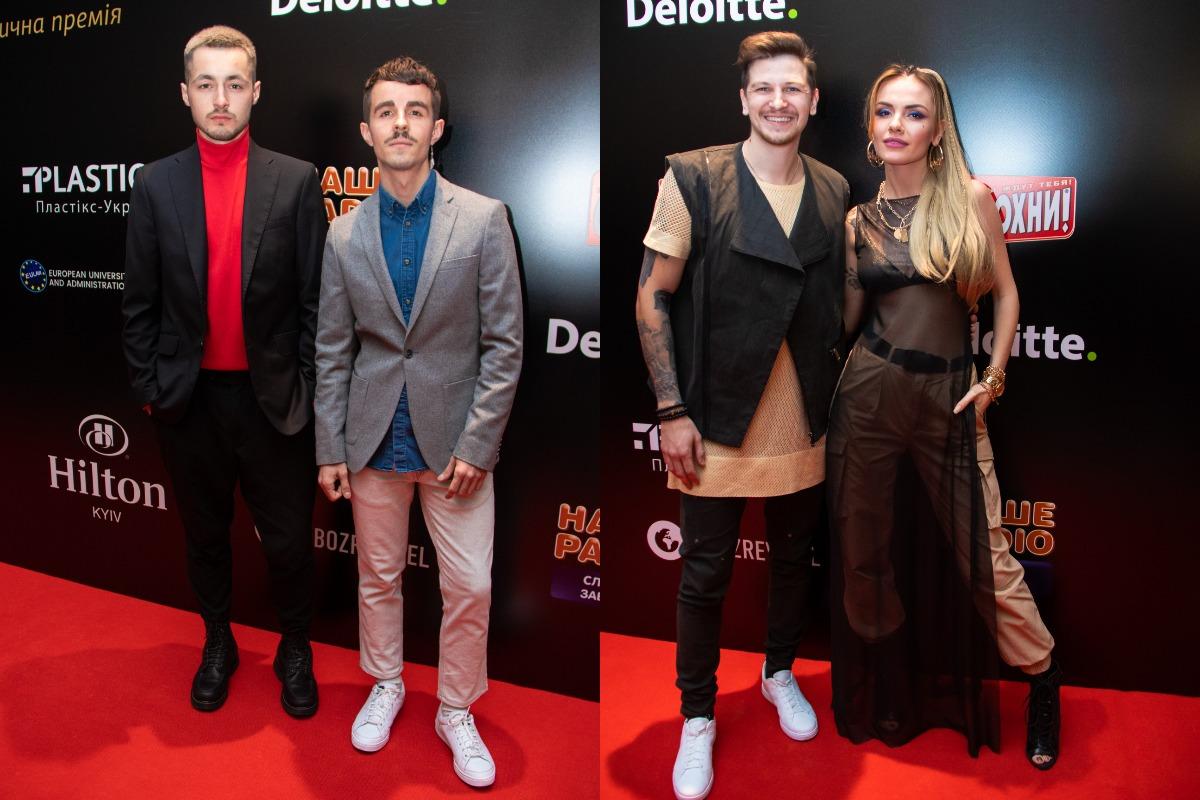 По красной дорожке прошли участник Нацотбора Евровидения Андрей Хайат и MamaRika с бойфрендом