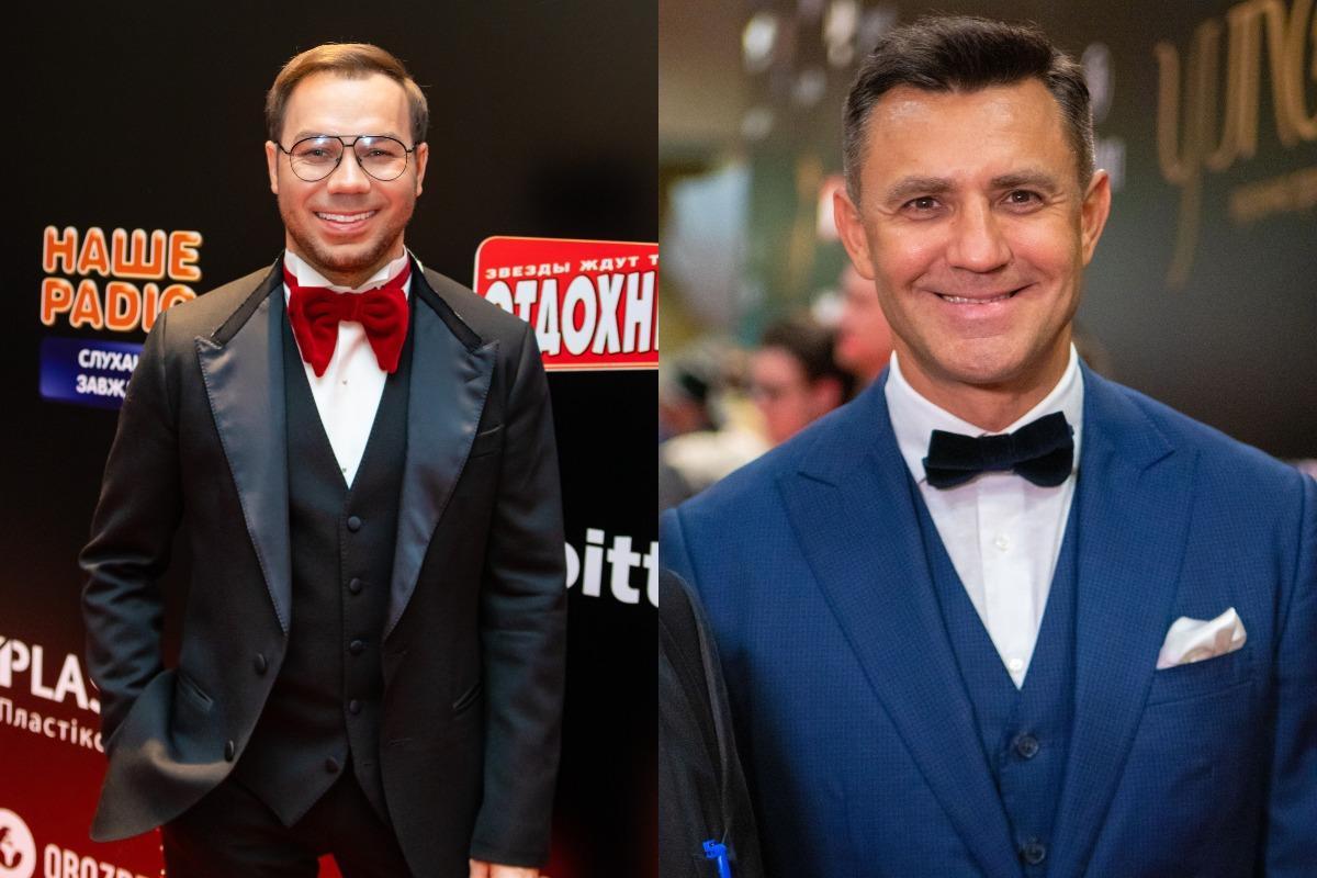 Андре Тан и Николай Тищенко появились на красной дорожке в смокингах