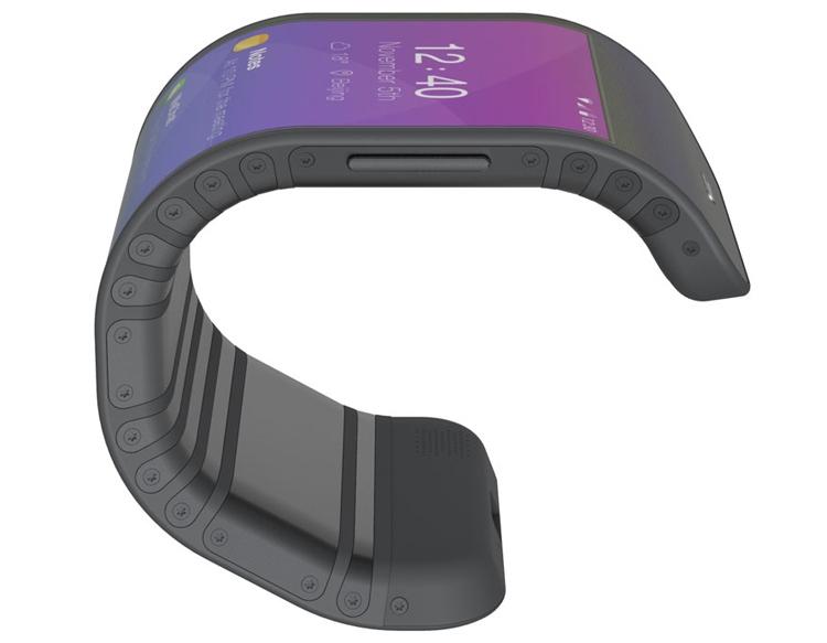 Lenovo запатентовала гибрид смартфона и браслета с гибким экраном