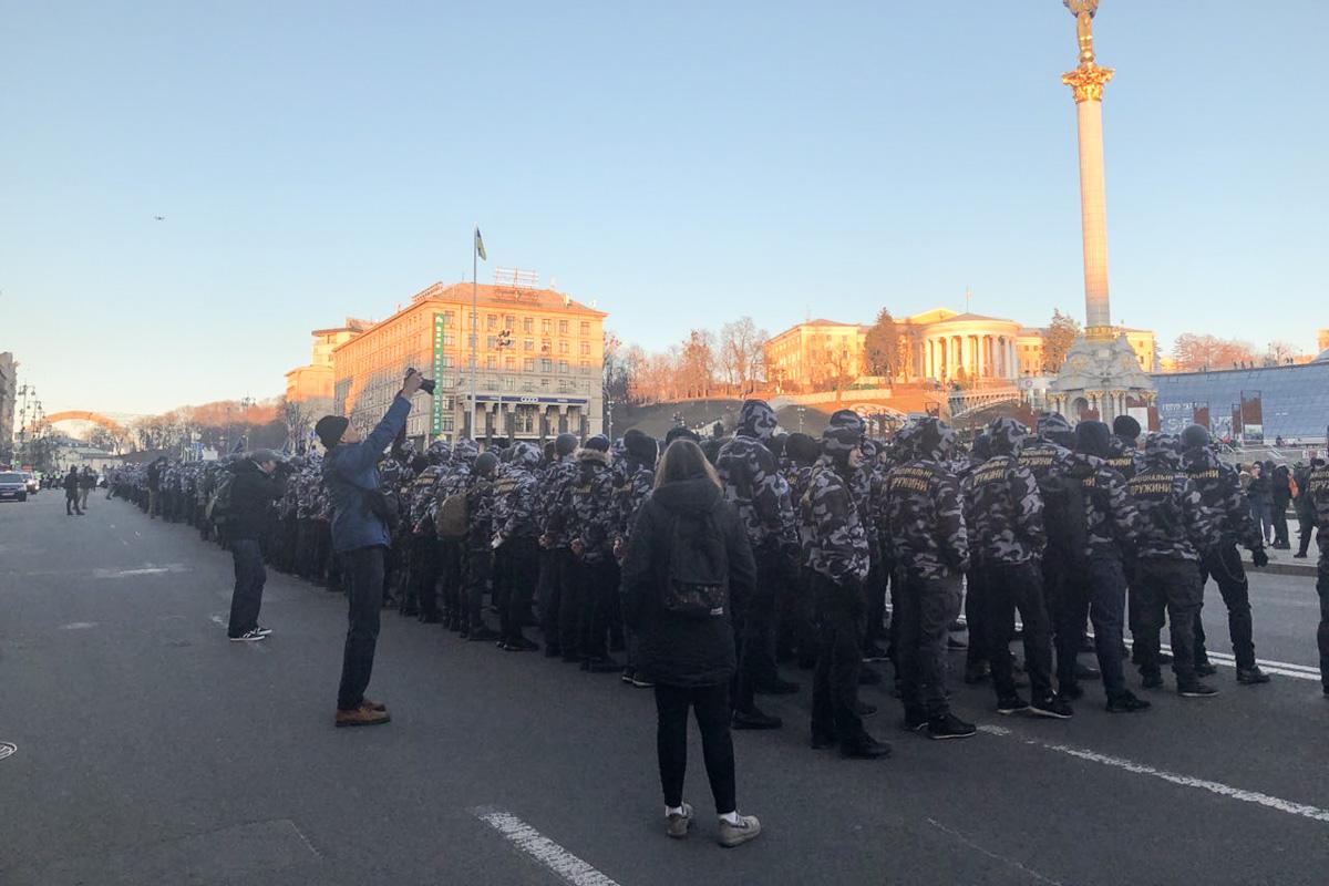 В субботу, 2 марта, в центре Киева начался Марш Национальных Дружин, посвященный второй годовщине создания организации