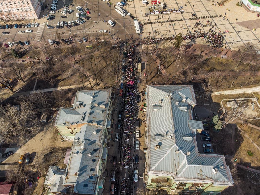 На акцию вышли около тысячи женщин