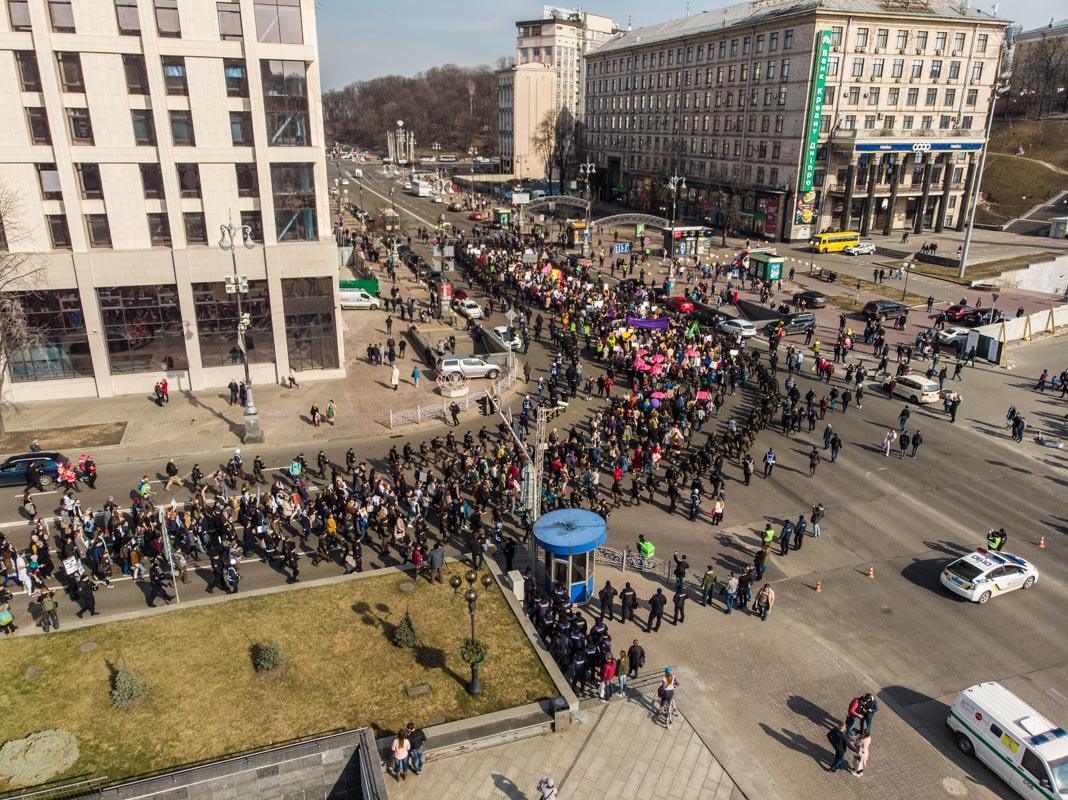 Марш на Майдане Независимости и Крещатике