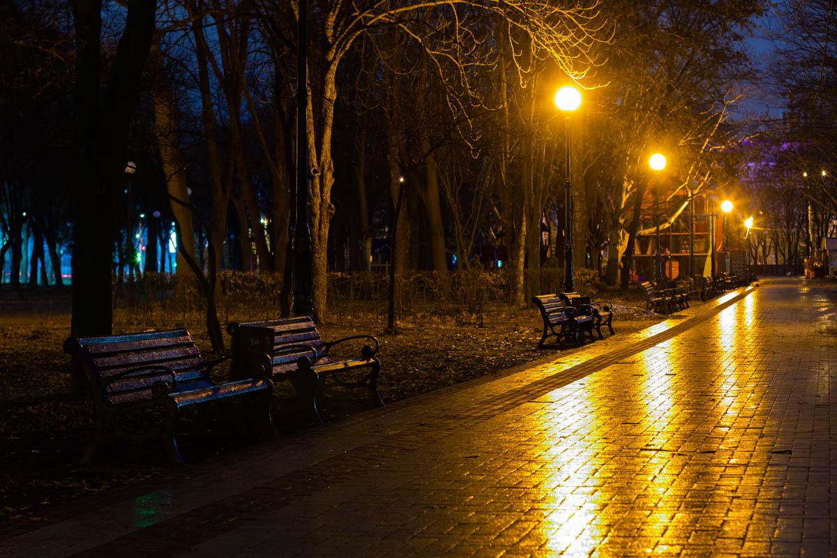 Рассвет занимается над Соломенским парком