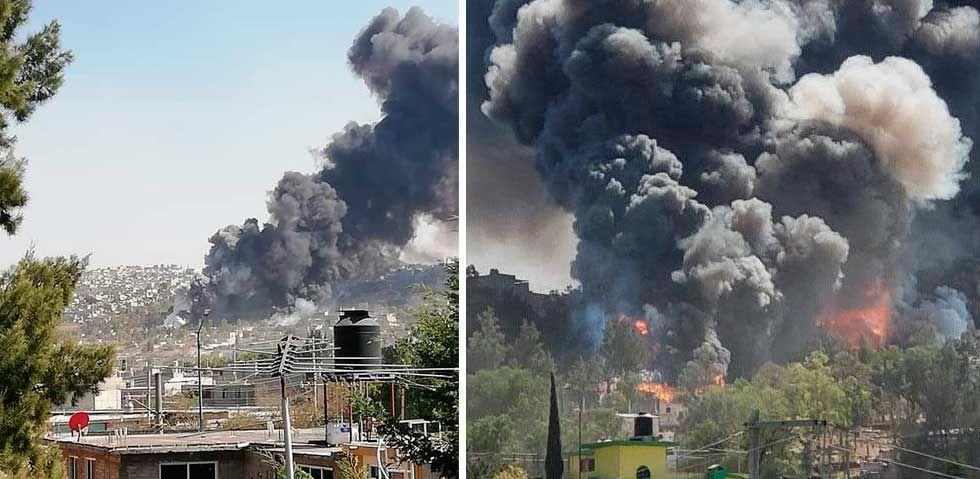 В мексиканской столице Мехико, у холма Ломас-де-Шоколен произошел взрыв пиротехнических мастерских