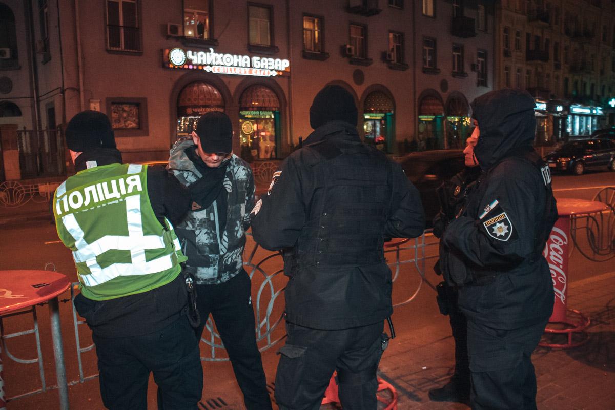 Правонарушителя задержали сотрудники полиции