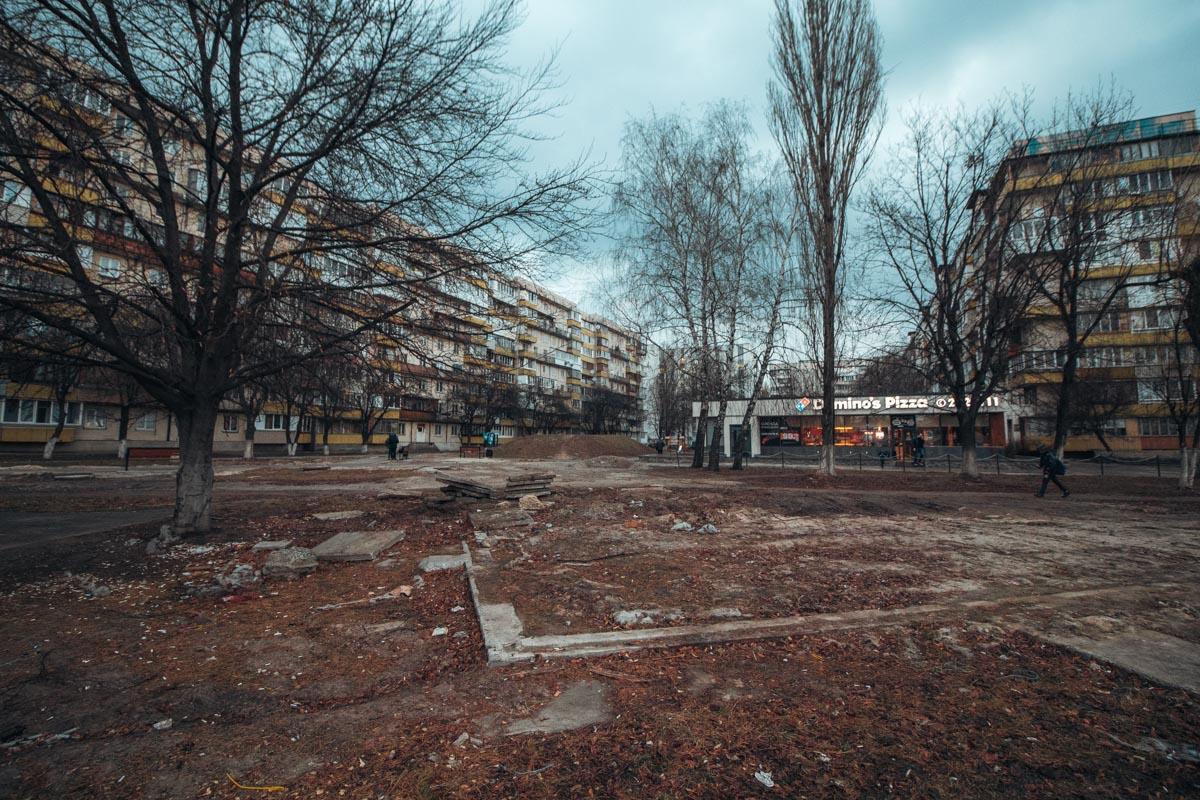 В Киеве на Виноградаре отремонтируют сквер