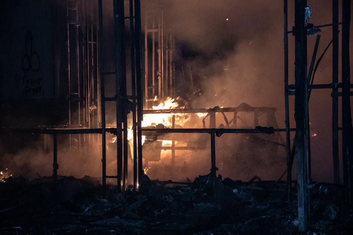 К счастью, во время пожара никто не пострадал
