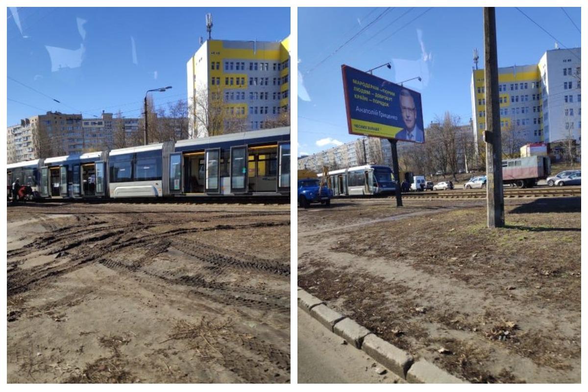 Скоростной трамвай №1 не в первый раз сходит с рельс именно в этом месте