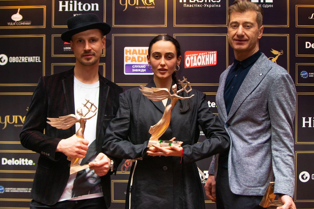 Победители трех номинаций BOOSIN, Alina Pash и Юрий Никитин