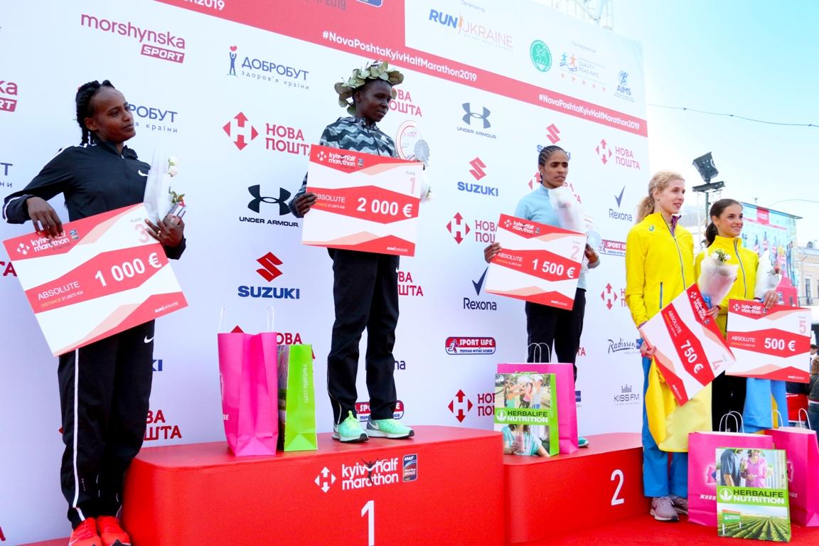 Победительницы марафона среди женщин