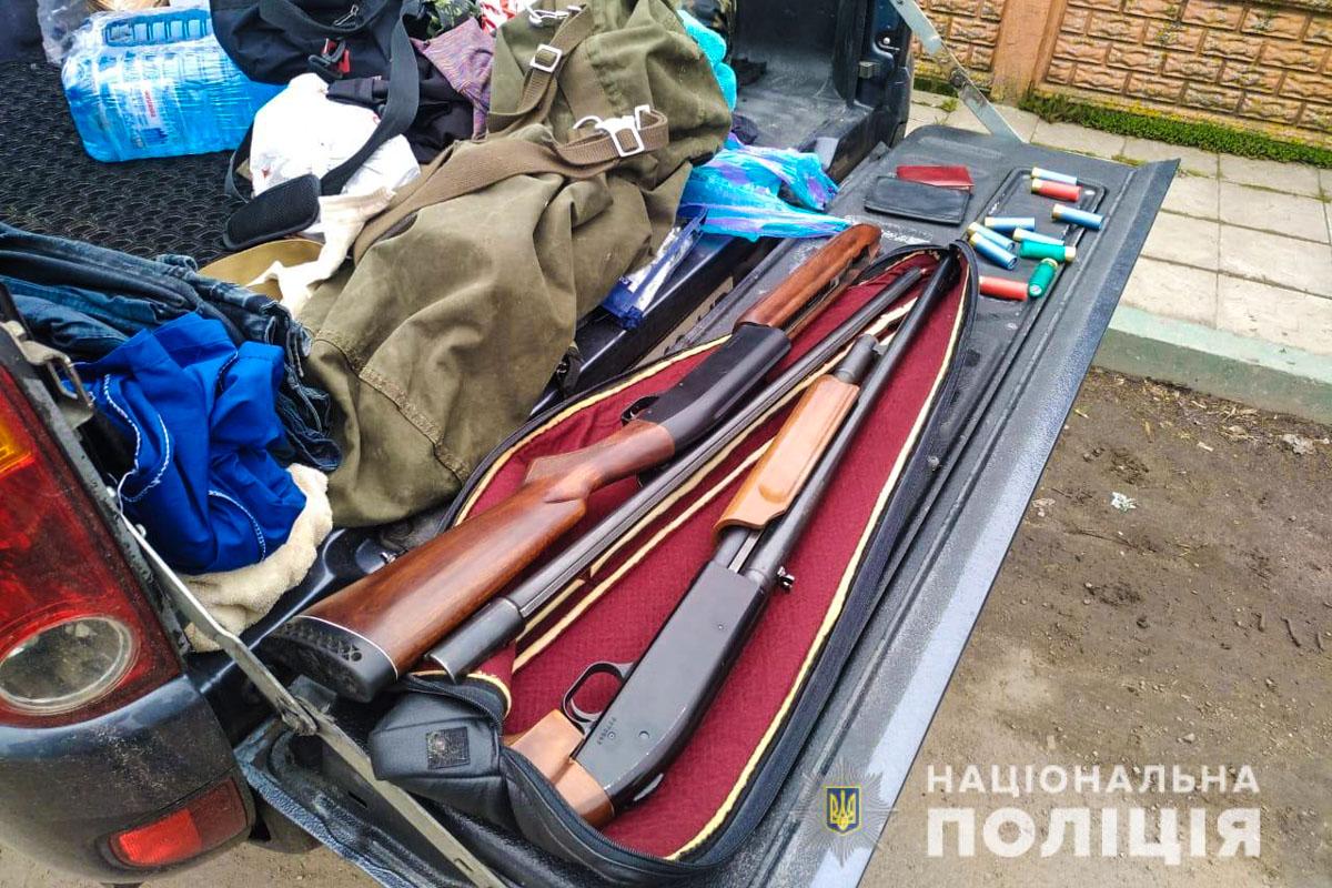 Во время обысков полиция изъяла оружие