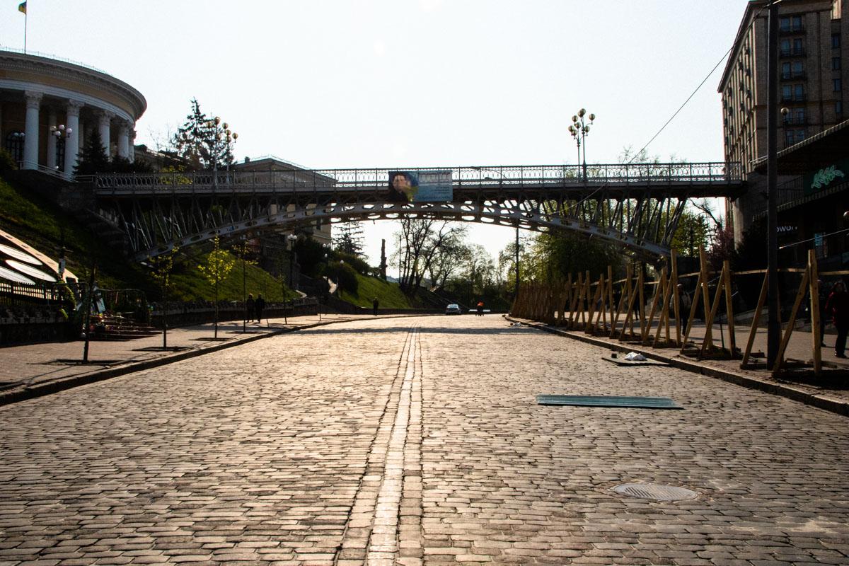 В Киеве реконструируют сквер