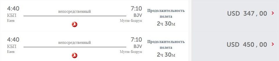 Стоимость перелета из Киева в Бодрум на официальном сайте перевозчика