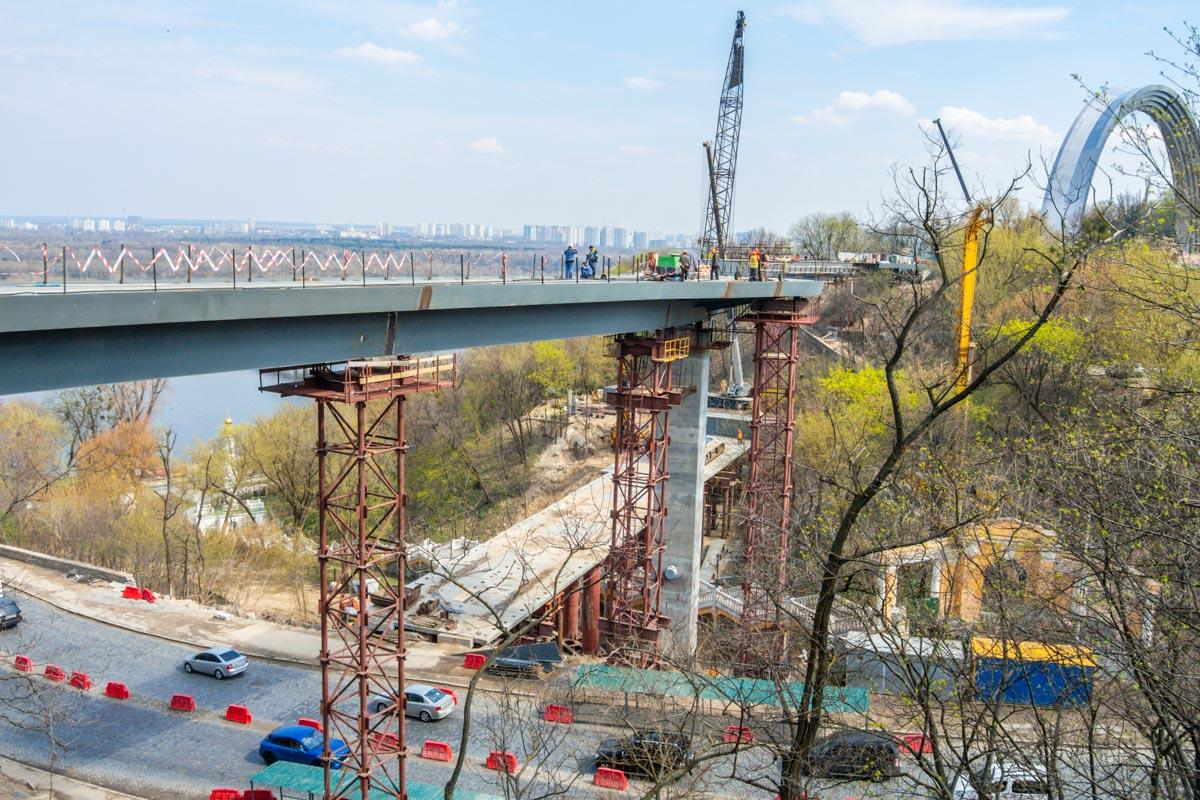 После открытия моста жители и гости Киева смогутнасладиться панорамным видом на Подол, Левый берег и Печерск