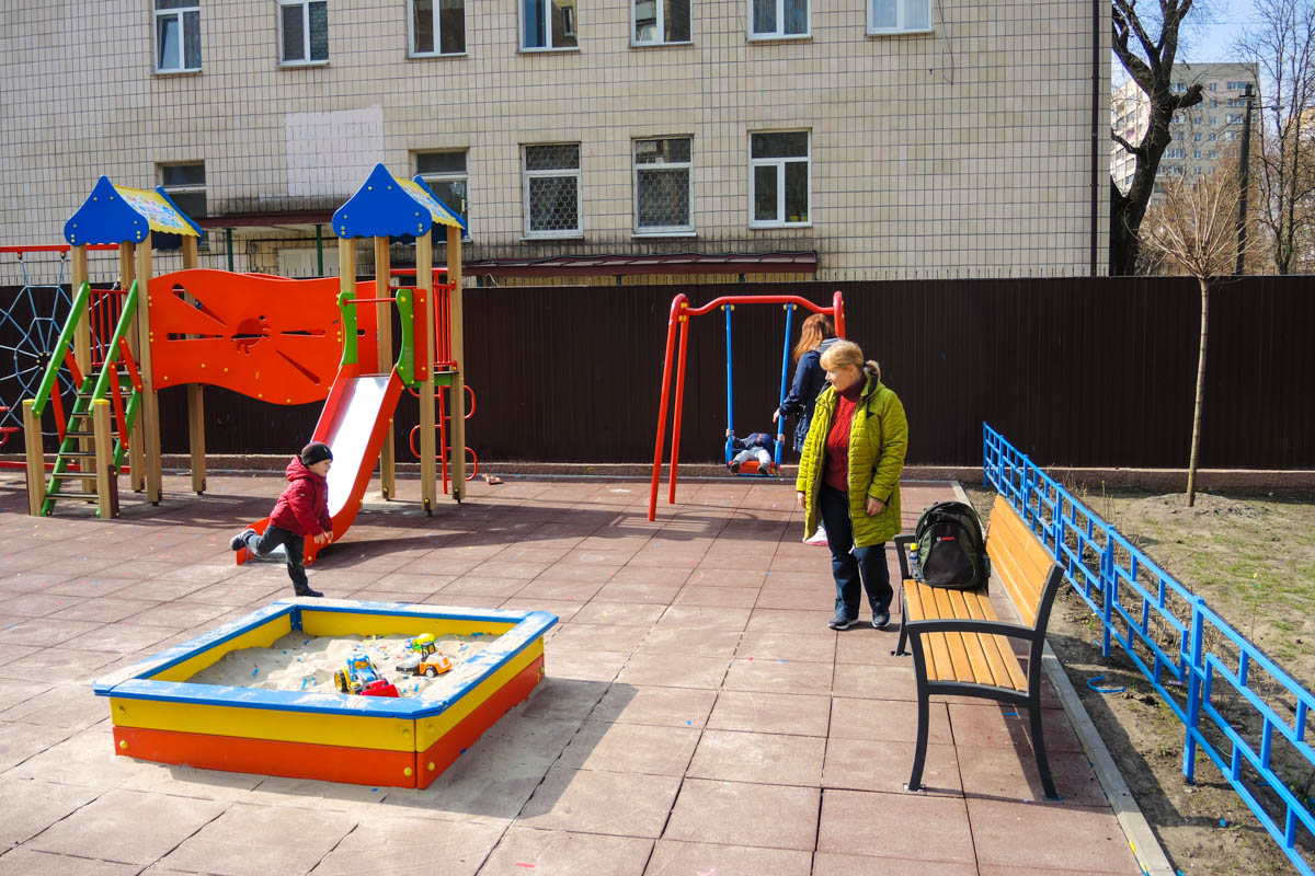 Сквер с площадками открыли 6 апреля