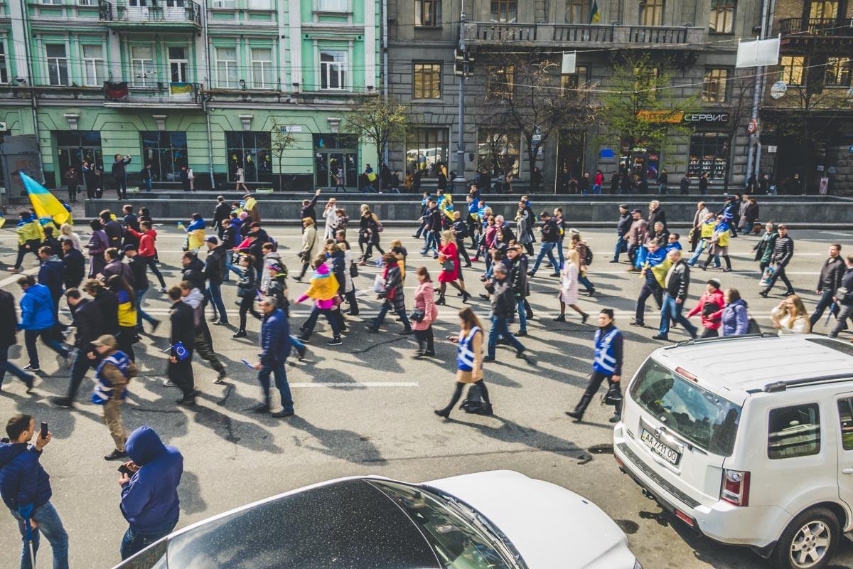 Толпа двигалась от Майдана к Олимпийскому