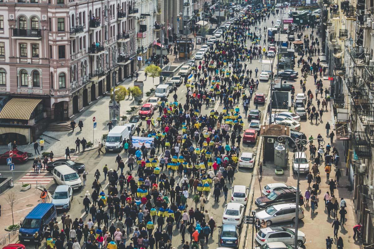 Движение транспорта на время шествия полностью остановлено
