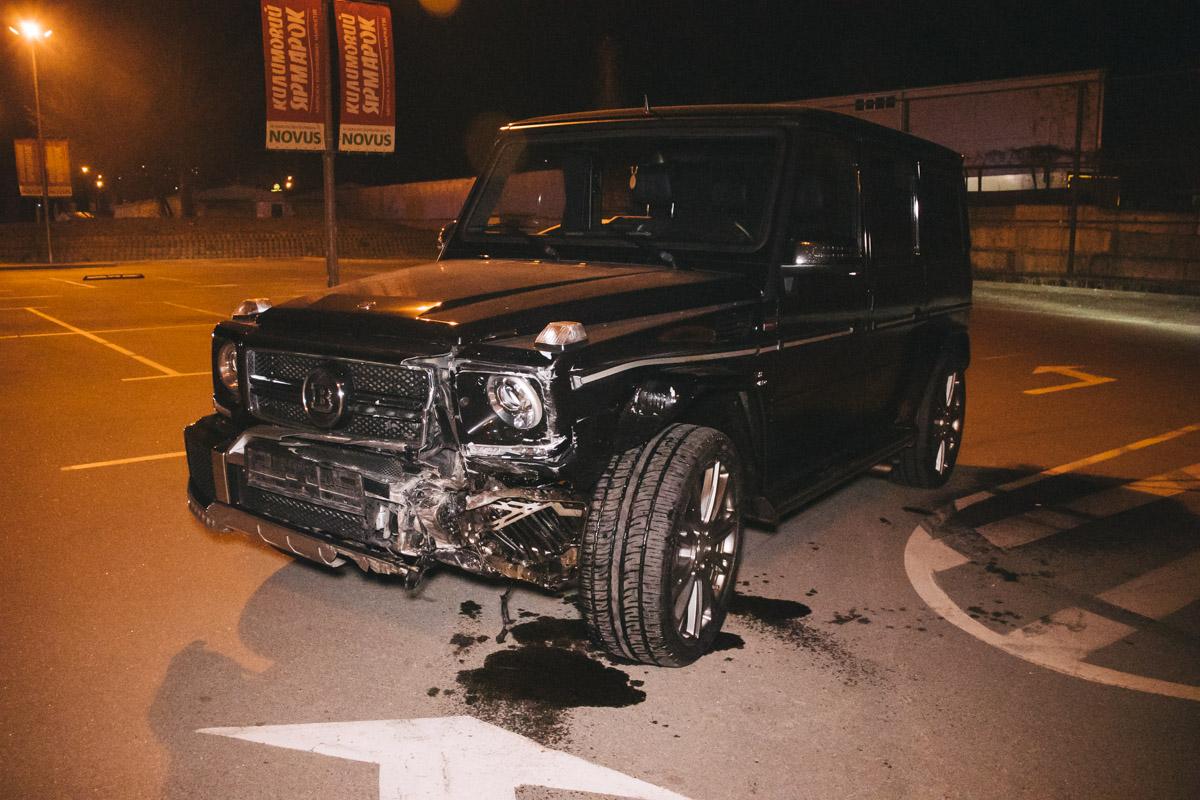 Мужчина наMercedes устроил еще одну аварию в этот вечер, на улице Березняковской