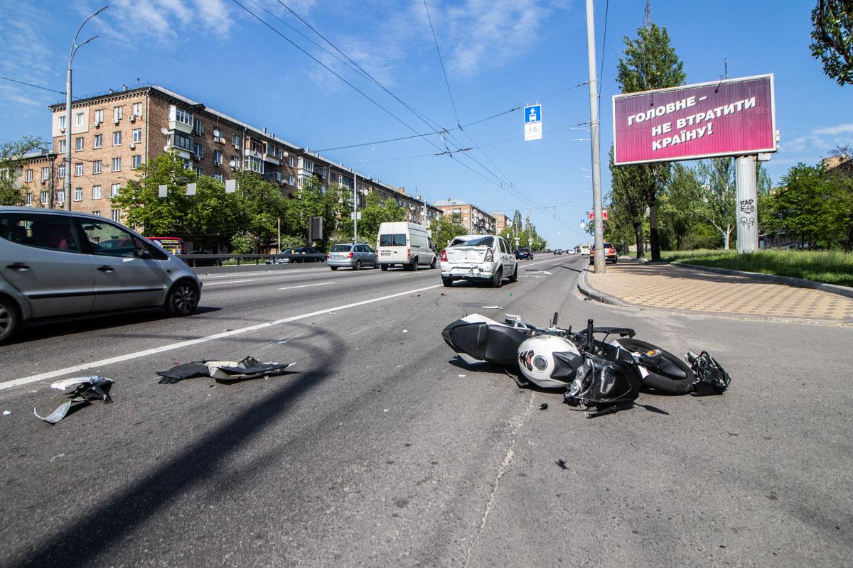 К счастью, мотоциклист отделался легкими травмами