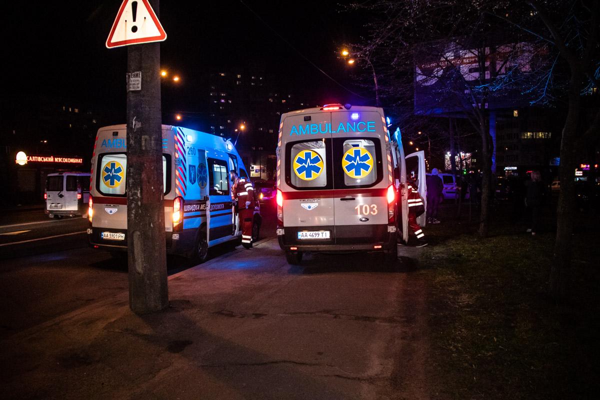 Водителя Renault увезли в больницу