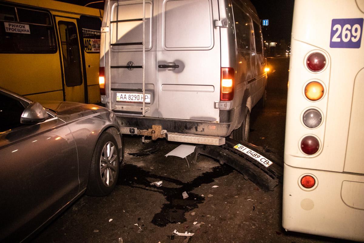 Предварительна причина аварии: резкое торможение грузового Volkswagen