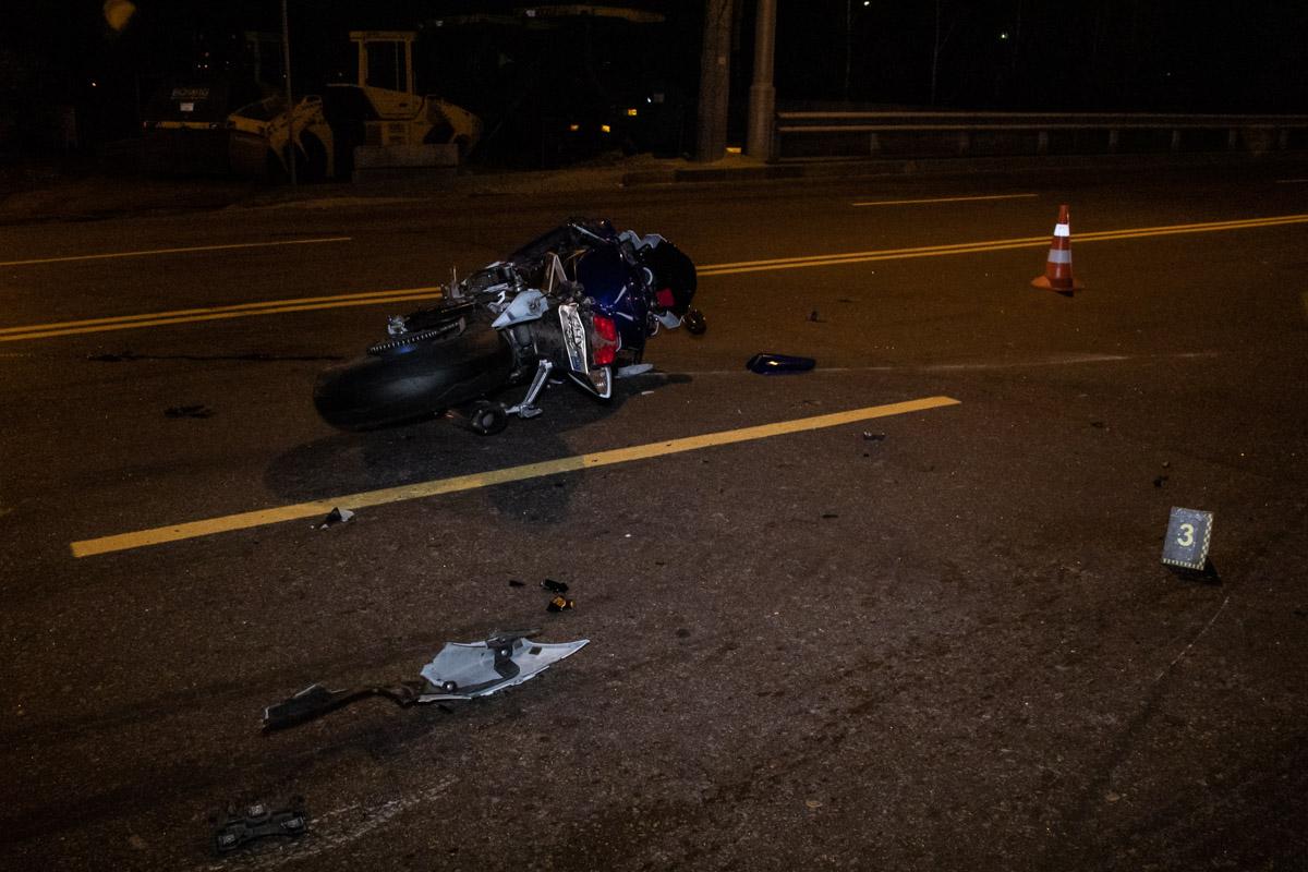 На Окружной столкнулись два мотоцикла