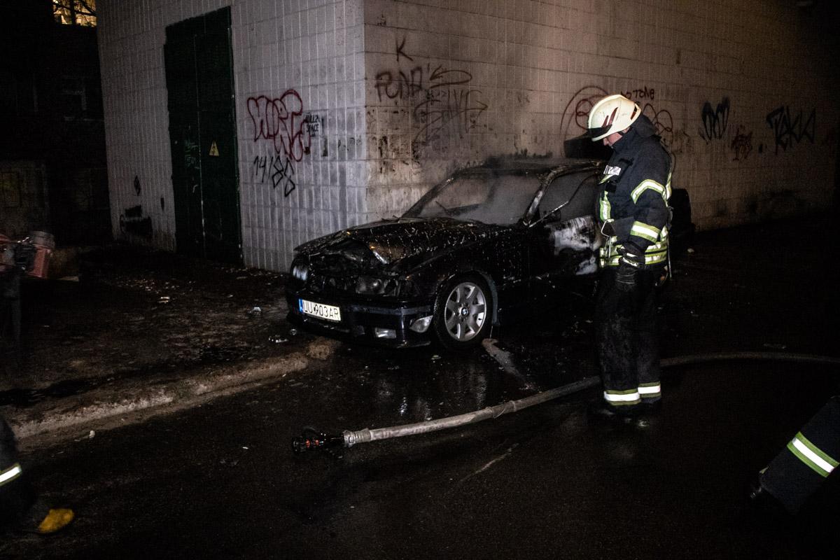 Горел автомобиль BMW