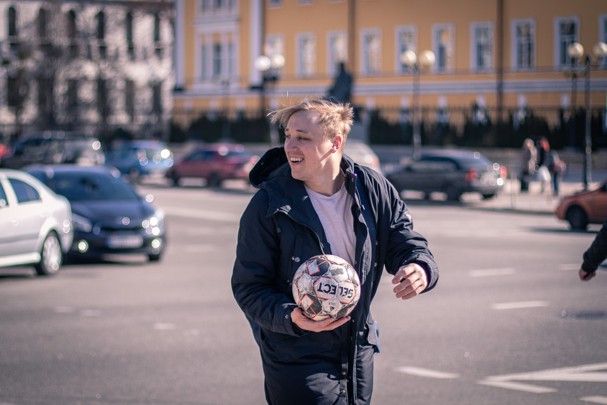 В футбол в центре города? Легко!