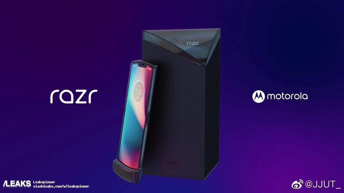 В сети появились фото складного смартфона Moto RAZR 2019