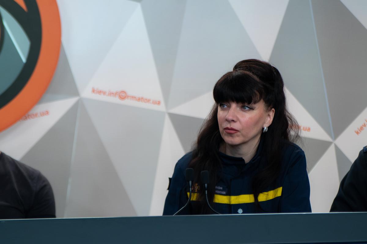 Начальник сектора связей со СМИ и работы с общественностью ГУ ГСЧС Украины в Киеве Светлана Водолага