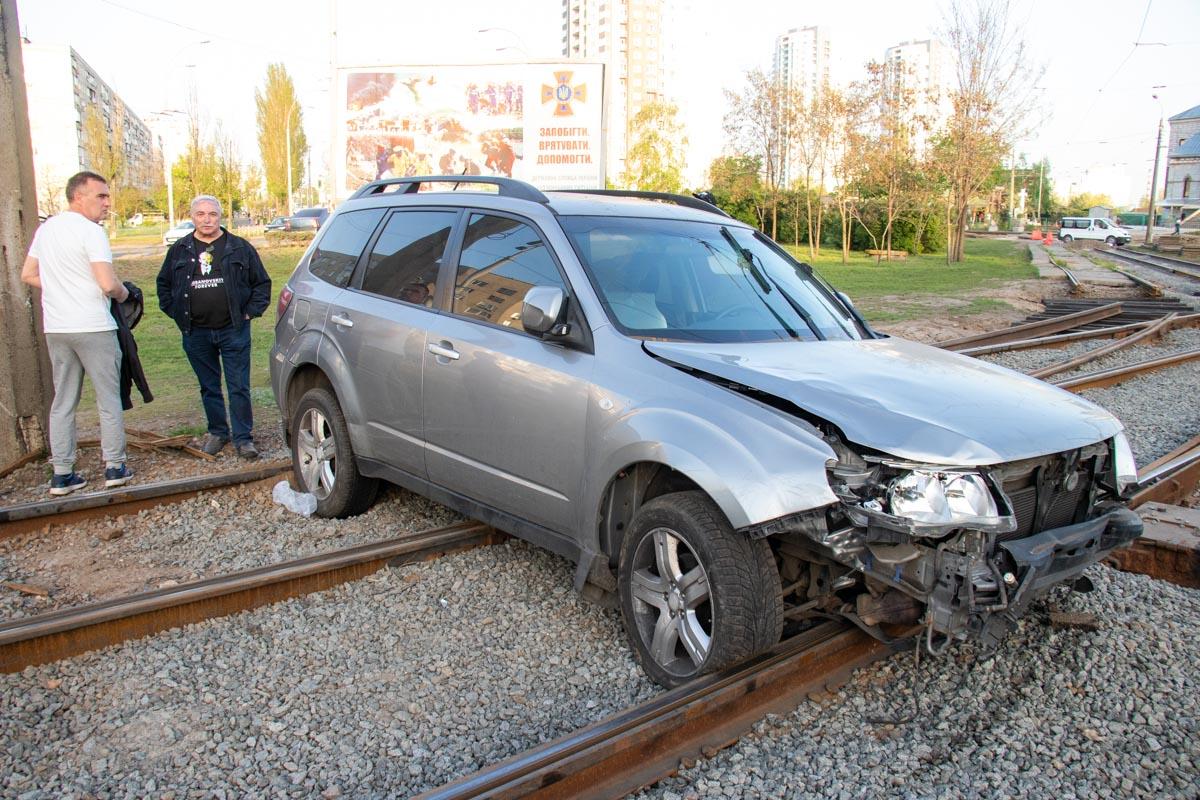 Subaru Forester вылетел с дороги и сбил пешехода