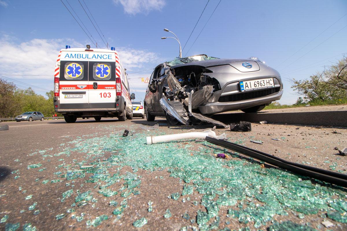 На улице Луговой произошло ДТП с опрокидыванием
