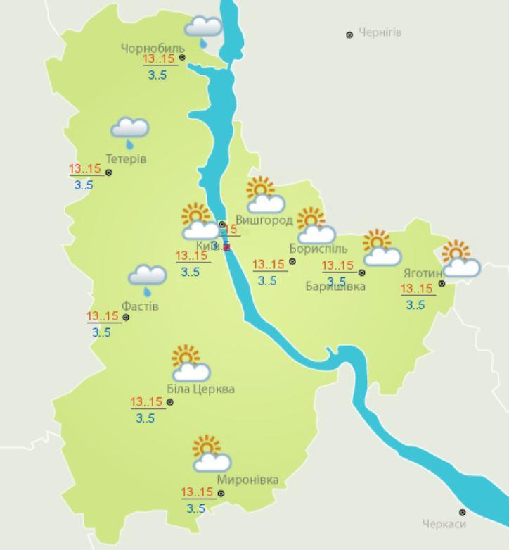 Погода на 21 апреля по данным Украинского гидрометцентра