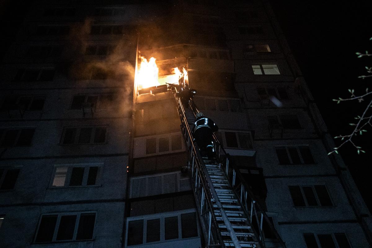 7 апреля на улице Александра Архипенко произошел пожар