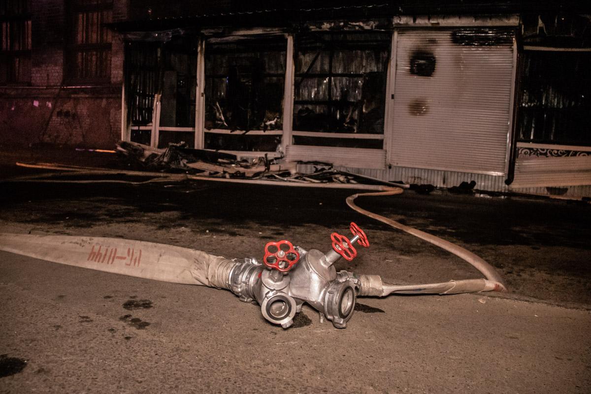 Пожар случился в Шевченковском районе